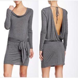 NWT • Haute Hippie • Faux Wrap Dress Gray Medium